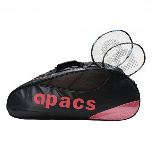 Apacs Double Compartment Racket Bag AP853 - Black/Pink