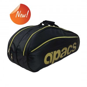 Apacs Double Compartment Racket Bag D2611 - Black/Gold